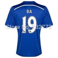 Top Quality 14/15 Chelseafc Home jerseys #19 Demba Ba Blue Shirt 2014/2015 Cheap Soccer uniforms Football kit