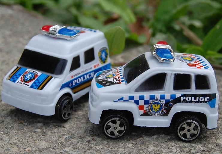 2025 Baby toys 110 small police public security warrior model mini car toy 5pcs/lot(China (Mainland))