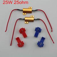 2 PCS 25W 25 ohm T10 Load Resistance for Car Turn Signal Led Bulb Lamps fog lamp canbus Fog light resistance Led resistance
