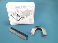 """15MMU 15mm Alfamacchine Hardwood Wedges / Vnails, Pack of 4000 , Underpinner V-Nails  AL 15mm  #5/8"""" FOR  hard MDF mouldings"""