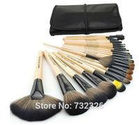 On Sale! 24 pcs Professional Makeup Brush Kit Makeup Brushes Sets Cosmetic Brushes+Good Quality PU Leather Bag