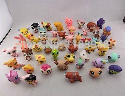 Lot 20 PCS Littlest Pet Shop Cat Dog Animals action Figures Ramdon Girl Boy Toys Gift(China (Mainland))