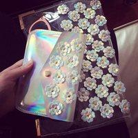 2014 New appliques  Women's Day Clutches Purses and Handbags Designer Clutch Women Clutch Bag PVC transparent Envelope Bags