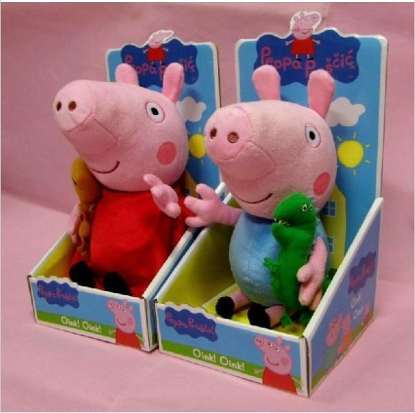 30cm 2 pezzi/set peppa pig peluche peppa pig giocattoli per bambini con orsacchiotto bambola anime bambino bambole per le ragazze cf4672