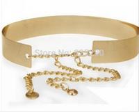 2014 New Fashion Hot Sale Metal Sequins Waist Belts Lady's Decorative Girdle Metal Mirror Waist Bandwidth Women's Belts Female