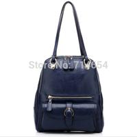 Fashion Women Vertical Soft Genuine Leather bag Multi functions Backpack Messenger shoulder bag Handbag qualified bags for women
