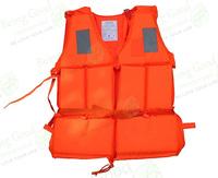 JSY-96-I Professional Life Saving Vest, Traditional Orange, with Emergency Whistle, Free Shipping