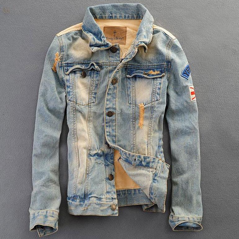 Модные мужские джинсовые куртки