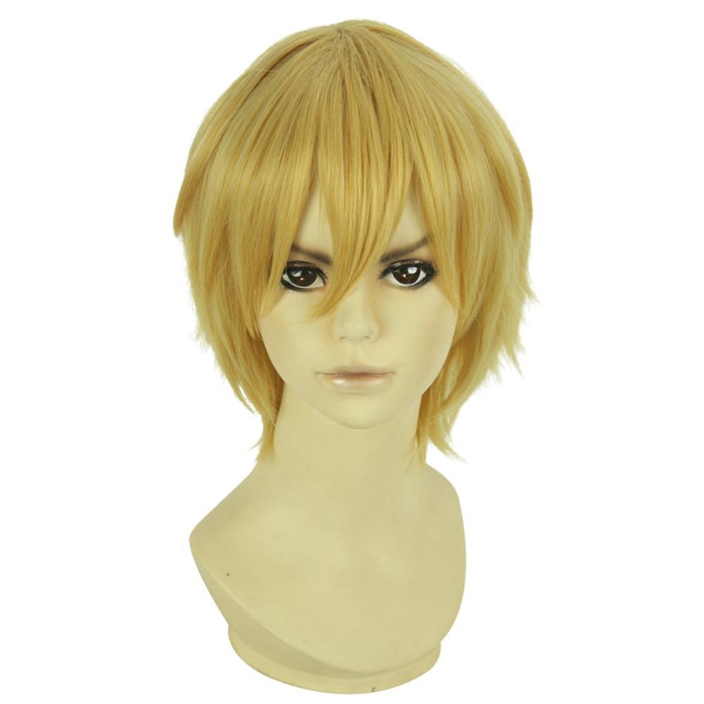 Light Yellow Short 30cm Cosplay Free! Nagisa Hazuki Wedge Style Wigs(China (Mainland))