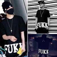 2014 hot sale Fukk t-shirt male street clothes market ktz short-sleeve t-shirt hiphop