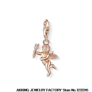 New 2014 Wholesale 925 silver pendant fit for necklace silver tomas jewelry cute Cupid charms gift