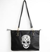 2014 women bag rivet skull bag vitage punk skull zipper messenger bag shoulder bag pu leather free shipping