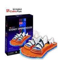 Free Shipping wholesale  hardcover copy 3d puzzle assembled puzzle toy-  Sydney opera house in Australia C067h