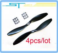 Free shipping 2014 hot 4pcs/lot 8045 8*4.5cm CW/CCW Carbon Fiber Propeller DJI Phantom Walkera QR X350 Quadcopter blades