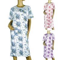 2014 nighty Summer sexy Fashionable Dye Printing large size 5xl women's cotton nightgown summer lady sleepwear Free Shipping