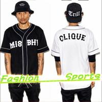 Unisex Summer Baseball Uniform Hiphop Vintage Short-sleeve Baseball Clothing Shirt Male Men's V-Neck Jersey Sports Tees CX851208