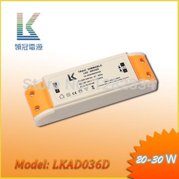 2pcs/lot triac dimmable LED driver constant current 500mA 20W model LKAD036D free shipping(China (Mainland))