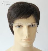 Free shipping 100% H HAIR wig male wig short  fashion full  wigs