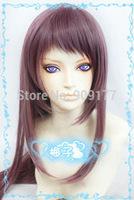 100cm NEW Nagi no Asukara Manaka Mukaido long purple brown mix cosplay wig  Natural Kanekalon hair no lace Full wigs