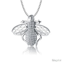 Pendants for necklaces Jewelry sets s925 sterling silver honeybee shape new fashion for ladies cheap free shipping