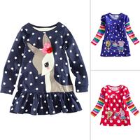 Sale New 2014 Peppa Pig girls T shirts, purple/blue, long sleeve, cotton, girls clothing Free shipping