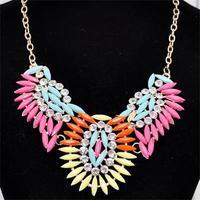 2014 Fashion short  flower necklace XL598