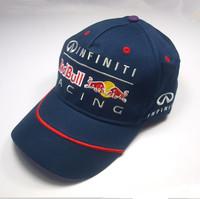2014 F1 RacingTeamline Cap dark blue color racing fan  baseball cap adjustable classic model cotton top quality free shipping