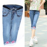 #3607 New 2014 fashion high quality women lady girls denim jeans capris pants