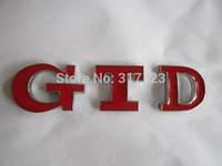 (20PCS/LOT)  3D Metal red GTD Emblem Eadge  stickers bumper Sticker cool car stickers decals