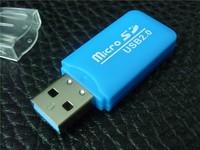 300pcs/lot2.0 usb card reader for micro sd card tf usb sd card reader