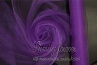 Free Shipping! Dark Purple Organza Roll 26Meters X70CM width  Wedding Party Celebration Venue Decoration New