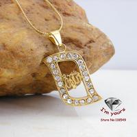 KT-1 Classic 18K Gold Plated Muslim islamic Allah pendants 2pcs/lot