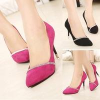 Women Pumps Rhinestone Platform Pumps Red Bottom High Heels Crystal Wedding Shoes Woman Bridal Shoes
