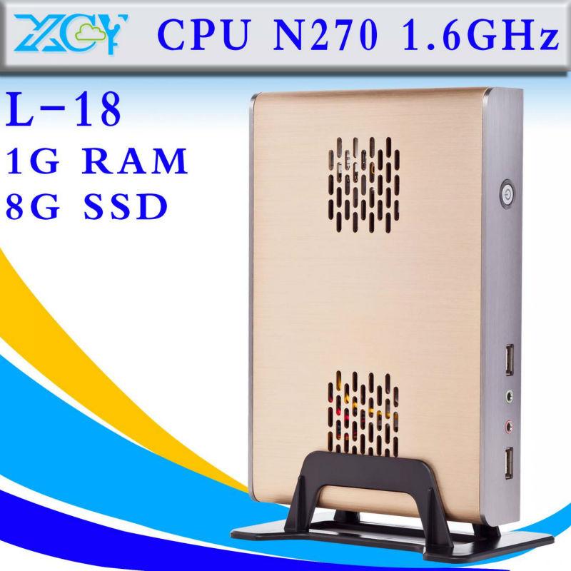 L-18 Intel N270 Atom 1g ram 8g host computer factory desktop thin client support wireless keyboard(China (Mainland))
