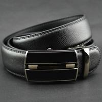 Hot Sale 2014 1p/lot New Arrival leather belt ,Good Quality Automatic buckle black business trouser belts for men 671430