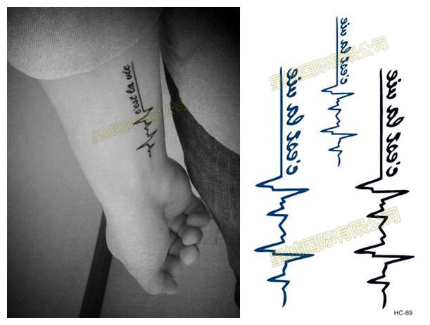 Tatouage autocollant promotion achetez des tatouage - Ligne de vie tatouage ...