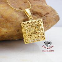 KT-10 Classic 18K Gold Plated Muslim islamic Allah Hollow out pendants 2pcs/lot
