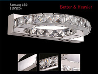 Wall/Sconce light LED Modern Stainless steel K9 crystal Brief Super Bright & long life Samsung chip Semi-cycle design saving