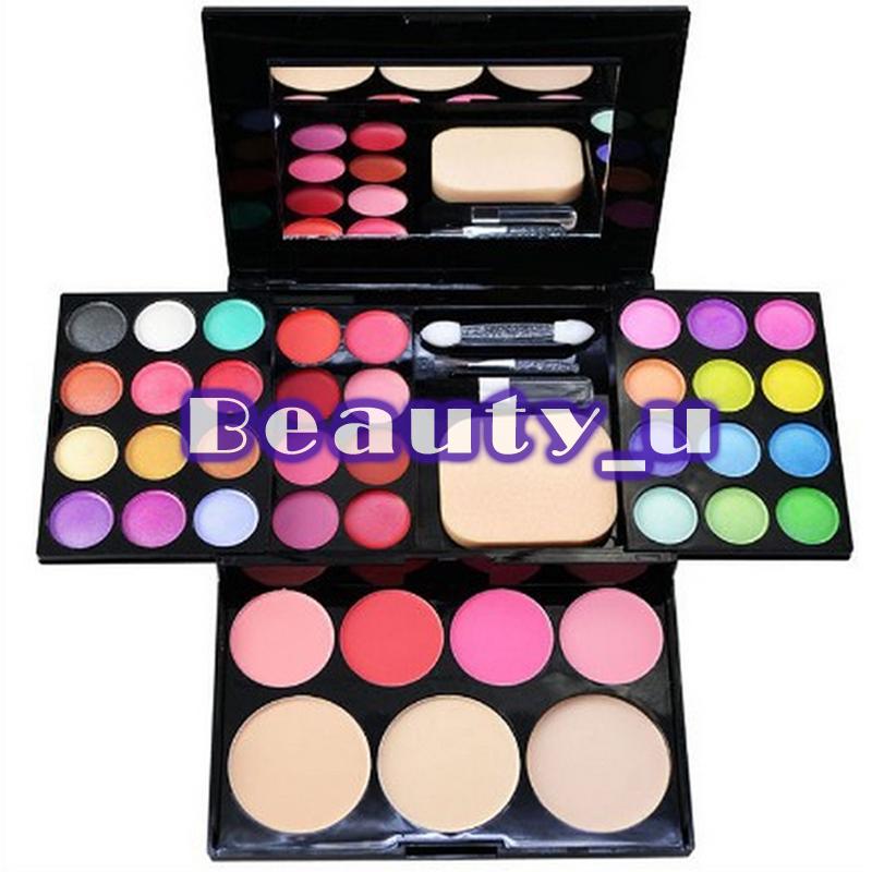 New Fashion 39 Color Eye Shadow Makeup Powder Palette Eyeshadow Eye Shadow Palette + 4 pink Blusher COLORS A012# Dropshipping(China (Mainland))
