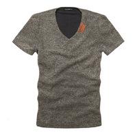 2014 Brand men  short sleeve V-neck men's short-sleeved t-shirt men t-shirt fashion t-shirt tide of urban men