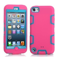 3 in 1 Defendered Case For iPod Touch 5 Hybrid Rubber Rugged Combo Matte Case Hard Cover w/Protect