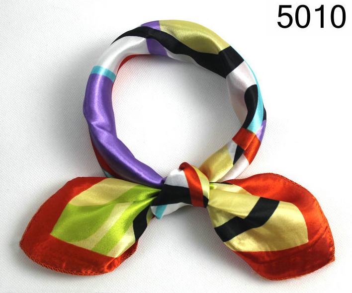 Free shipping 2014 Small Square Scarf Polyester 50x50cm Handkerchief Cheap Satin Silk Scarv(China (Mainland))