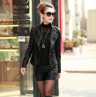 Genuine leather clothing female short design slim 2014 spring raccoon fur sheepskin jacket outerwear