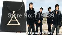 10pcs/lot wholesale Fashion Silver Charm 30 Seconds to Mars Logo Triad Pendant Necklace,original factory supply
