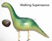 SMILE MARKET FREE SHIPPING  10PCS/lot New Irregular green foil USA walking Dinosaur Balloons