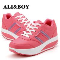 New 2014 women's sneakers zapatillas , losing weight Gauze leather  breathable sneakers shoes women zapatilla shape,runing femme