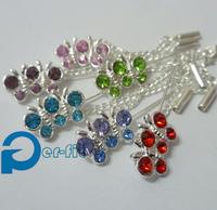 hijab pin scarf shiny pins heart shape crystal scarf pin islamic fixed safety pin 6 colors 12pc/lot free ship