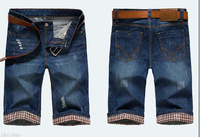 Free shipping  2014 high quality summer fashion jeans short pants for men size 28 to 38