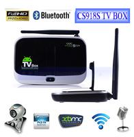Remote Control Free 700 Plus Channel IPTV Box,Android 4.2 WiFi HDMI Mini PC TV Box CS918S 5.0MP Camera Bluetooth TV Receive