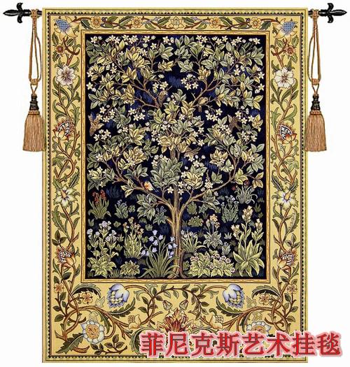 William morris boom van het leven blauw aubusson wandtapijt muur opknoping decoratie producten - Decoratie eenvoudig voor het leven ...